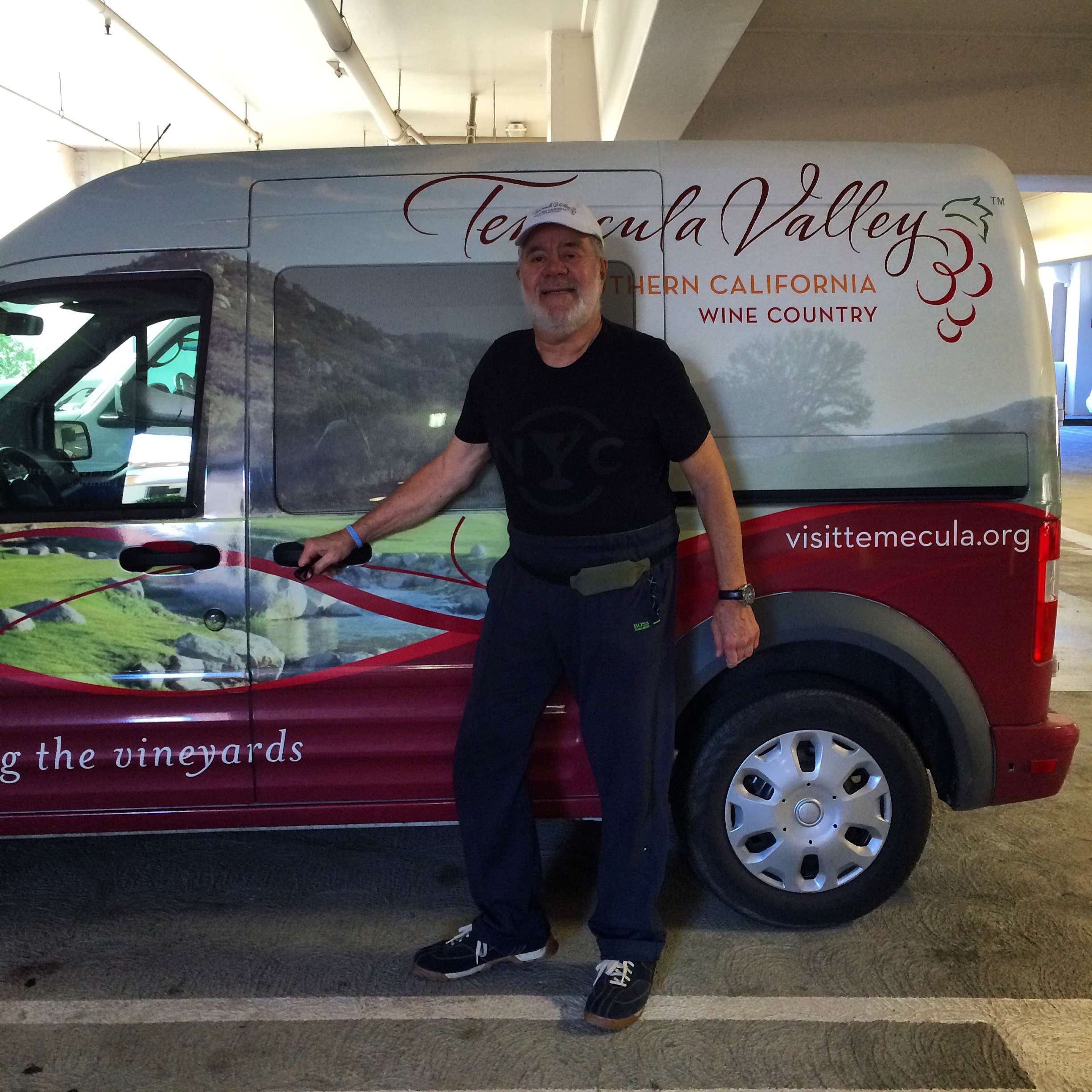 Ron in front of the Temecula Wintner Truck