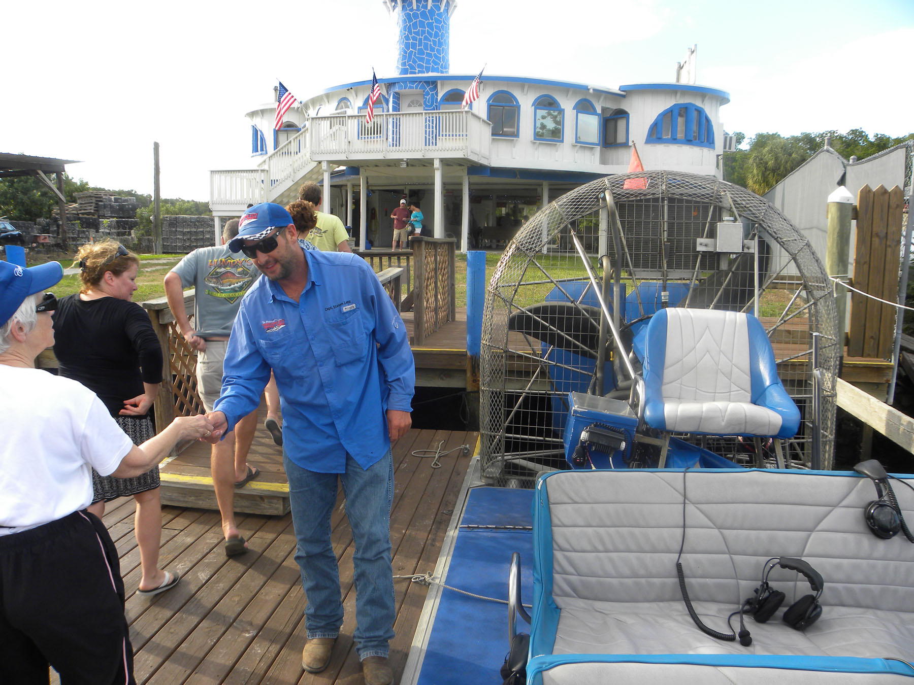 1  boarding airboat