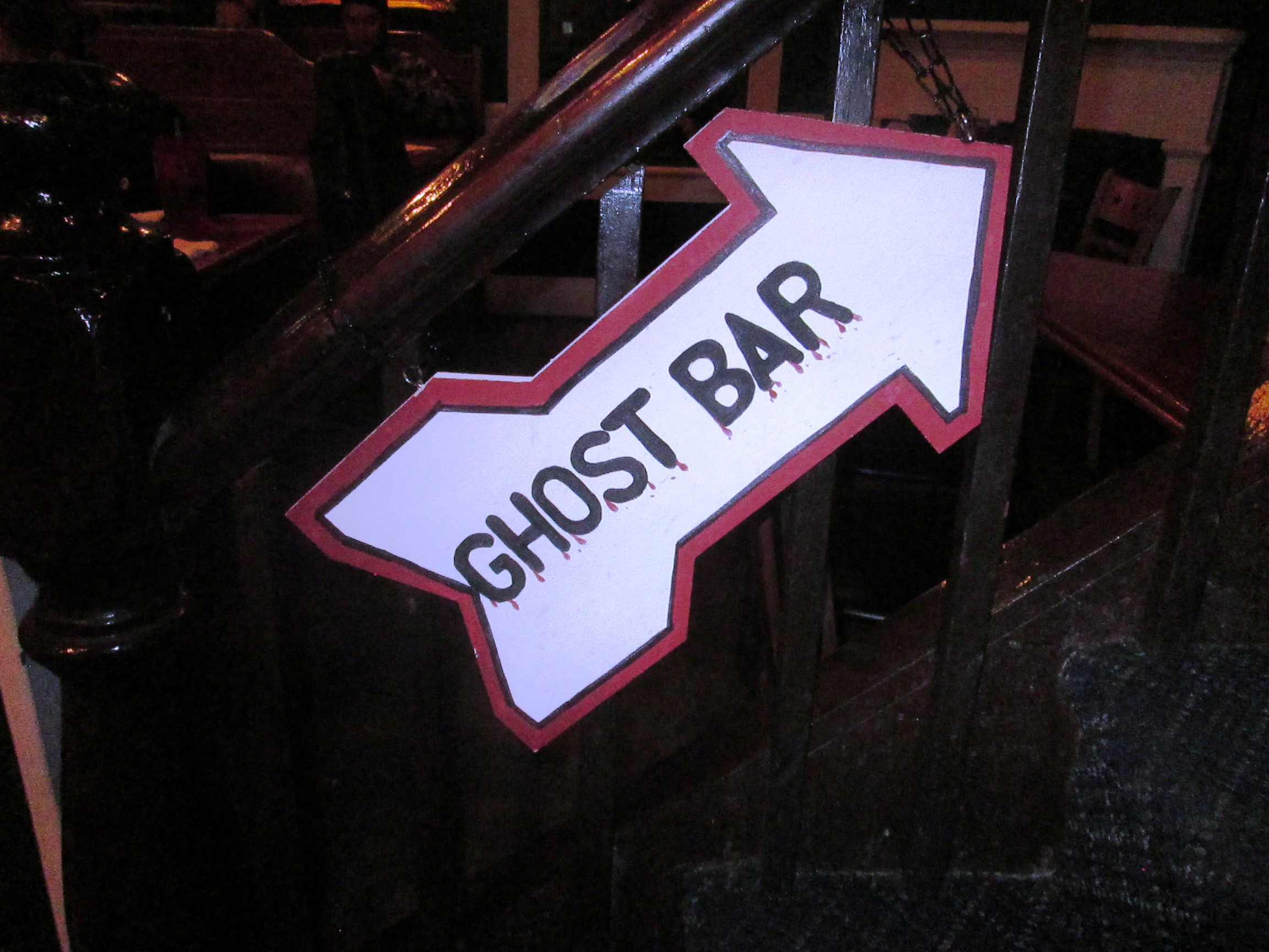 Sign to Ghost Bar