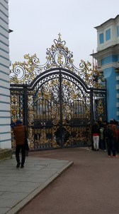 Gates leading into Catherine Palace