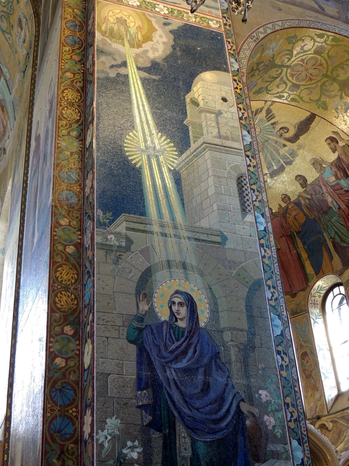 Another example of the mosaics inside the church.