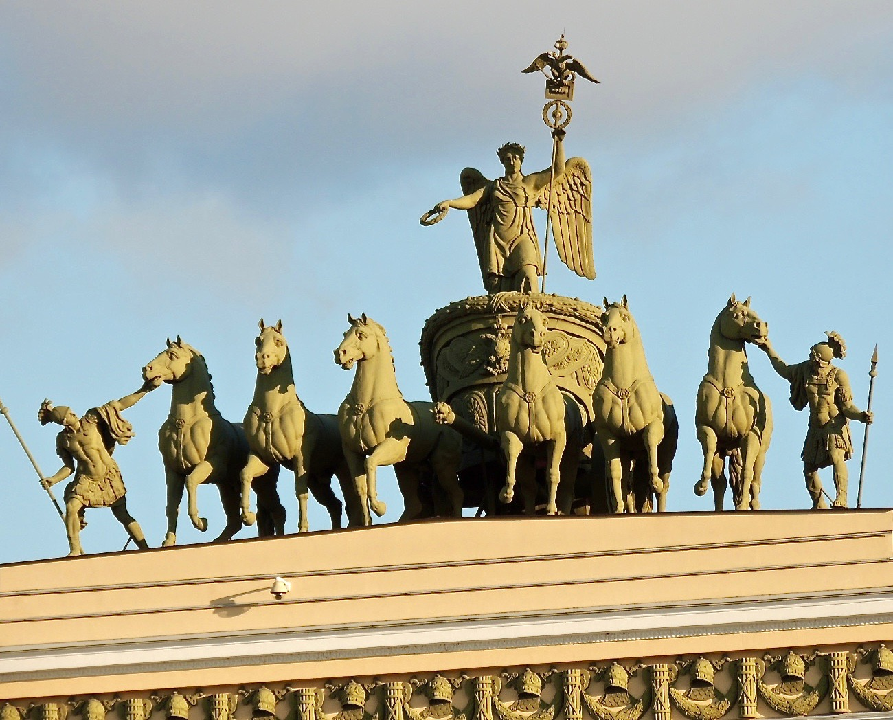The Victory Chariot statue to commemorate Russia's triumph over Napoleon.