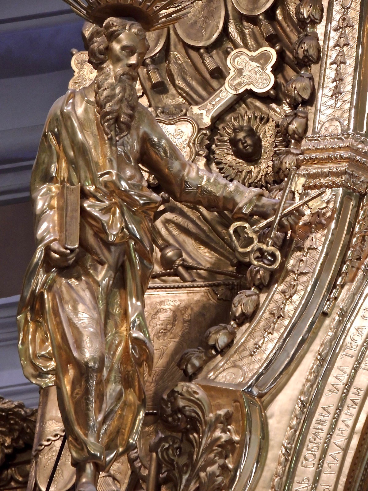 St. Peter holding the keys to heaven.