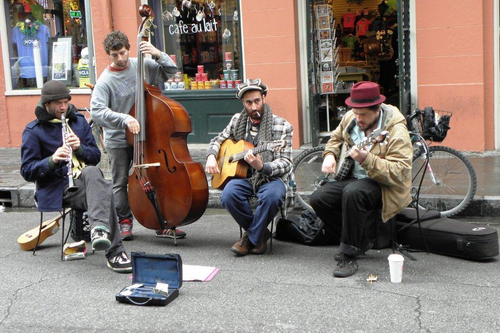 Street entertainers.