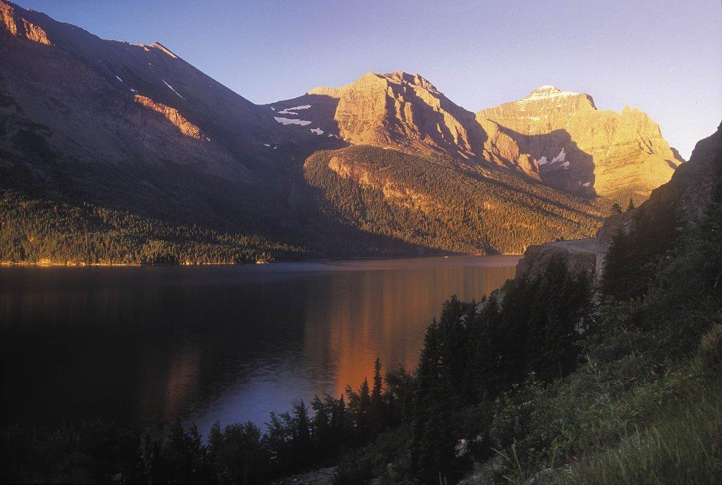 Saint Mary Lake is the second-largest lake in Glacier National Park Montana