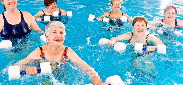 Water Aerobics Credit Photo: Coastal Empire Senior Fitness
