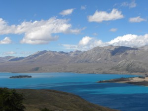 Central south island New Zealand Lakes