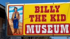 Sign in front of Billy the Kid Museum