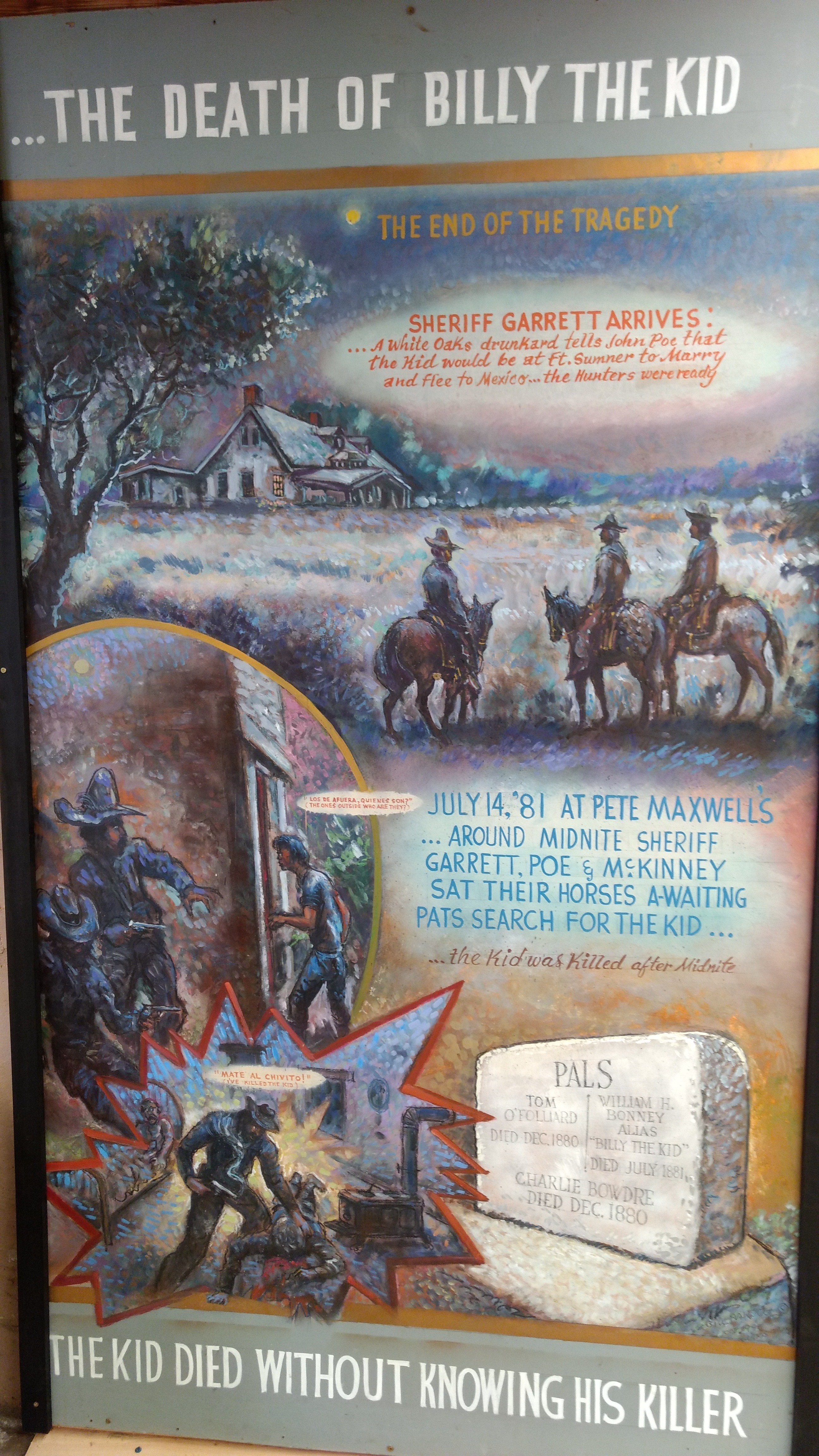 The Death of Billy the Kid at the hand of Pat Garrett