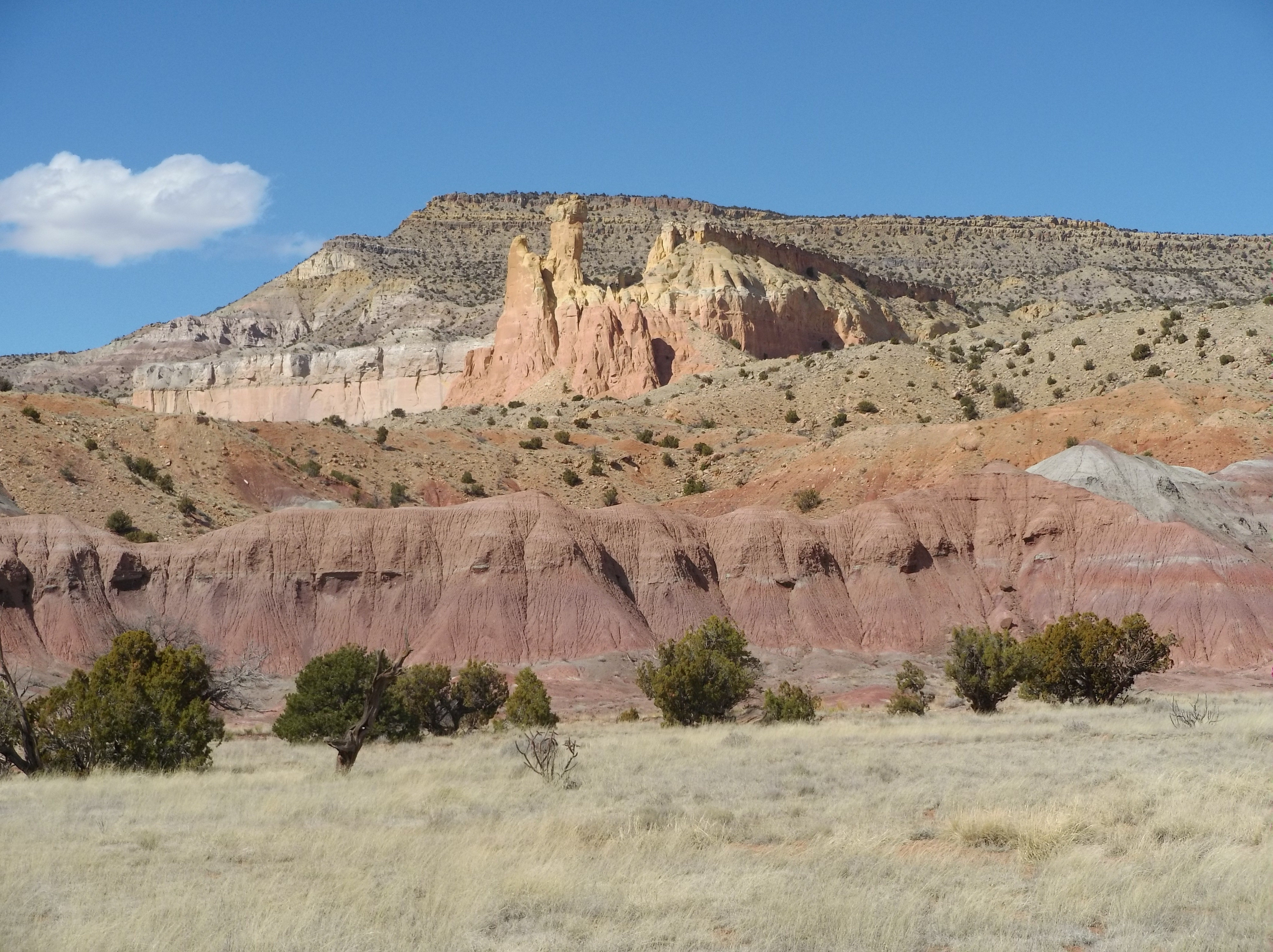 nature's small red hills. A private road not far from the Visitor's Center and close to O'Keeffe's home, reveals these colorful hills.