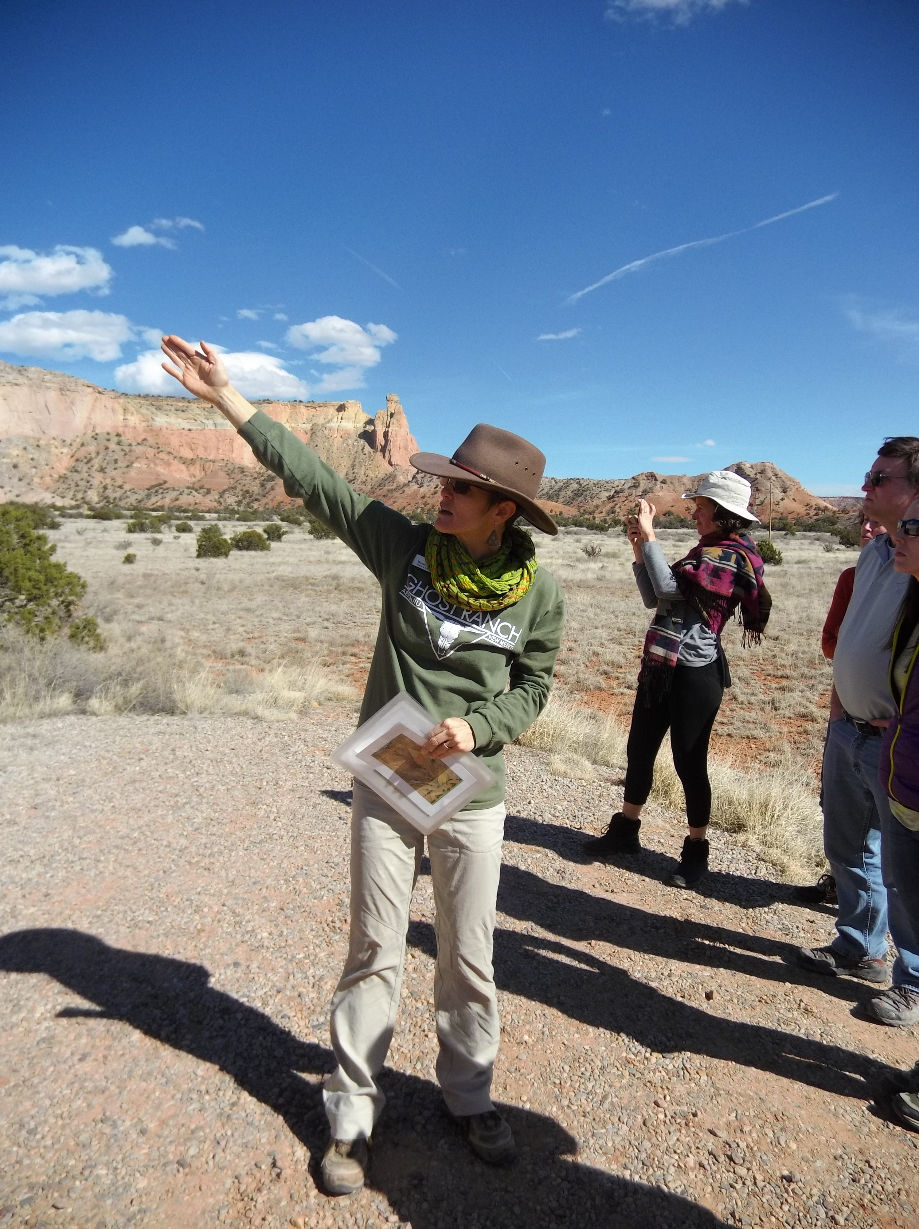 This is Wendy, expert guide on O'Keeffe, at Ghost Ranch