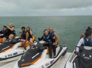 Ready and set for jet skiing.