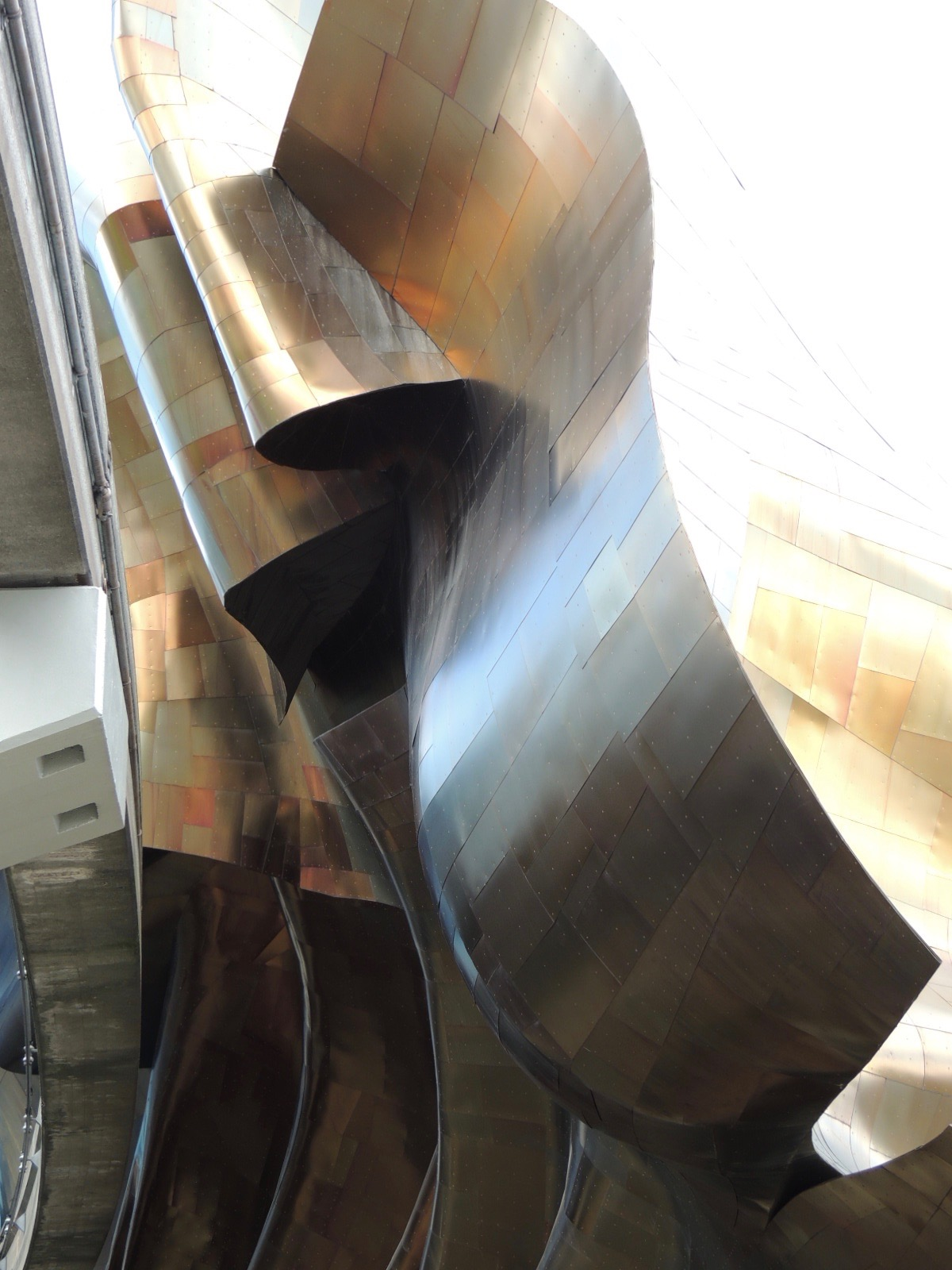 Metal flows like fabric at Frank O. Gehry's MoPOP building.