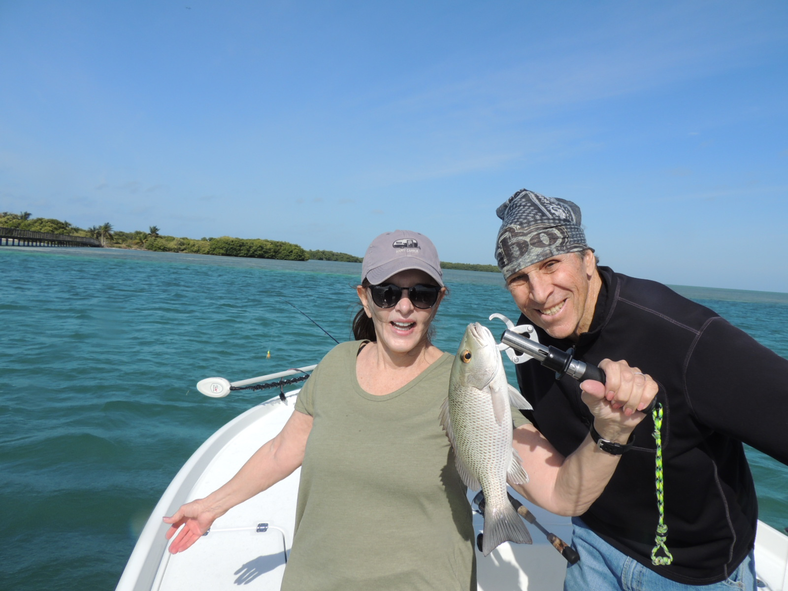 Bruce and Annie showing off a nice size catch.