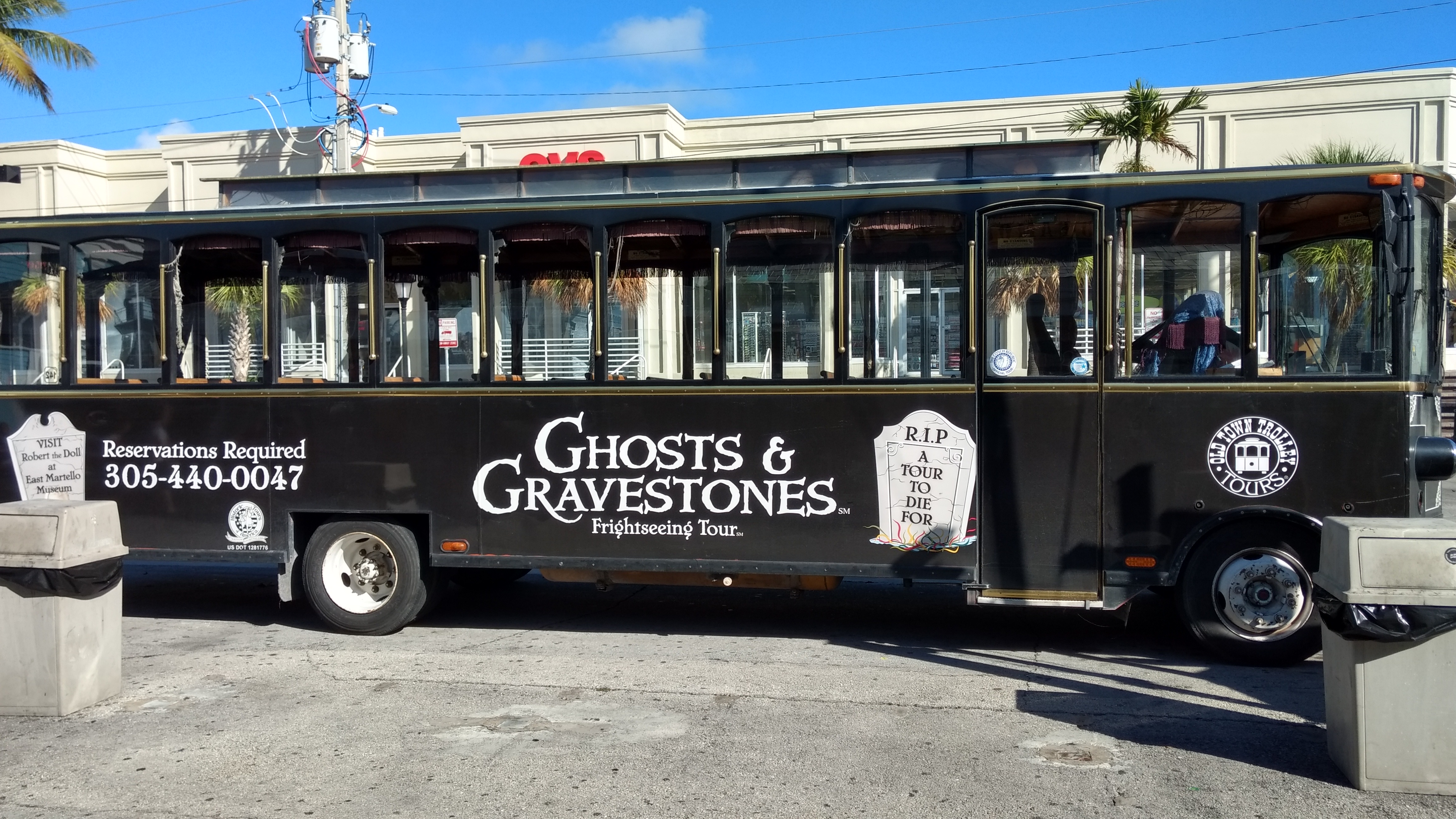 Ghosts and Gravestones bus which leaves from Mallory Square area.