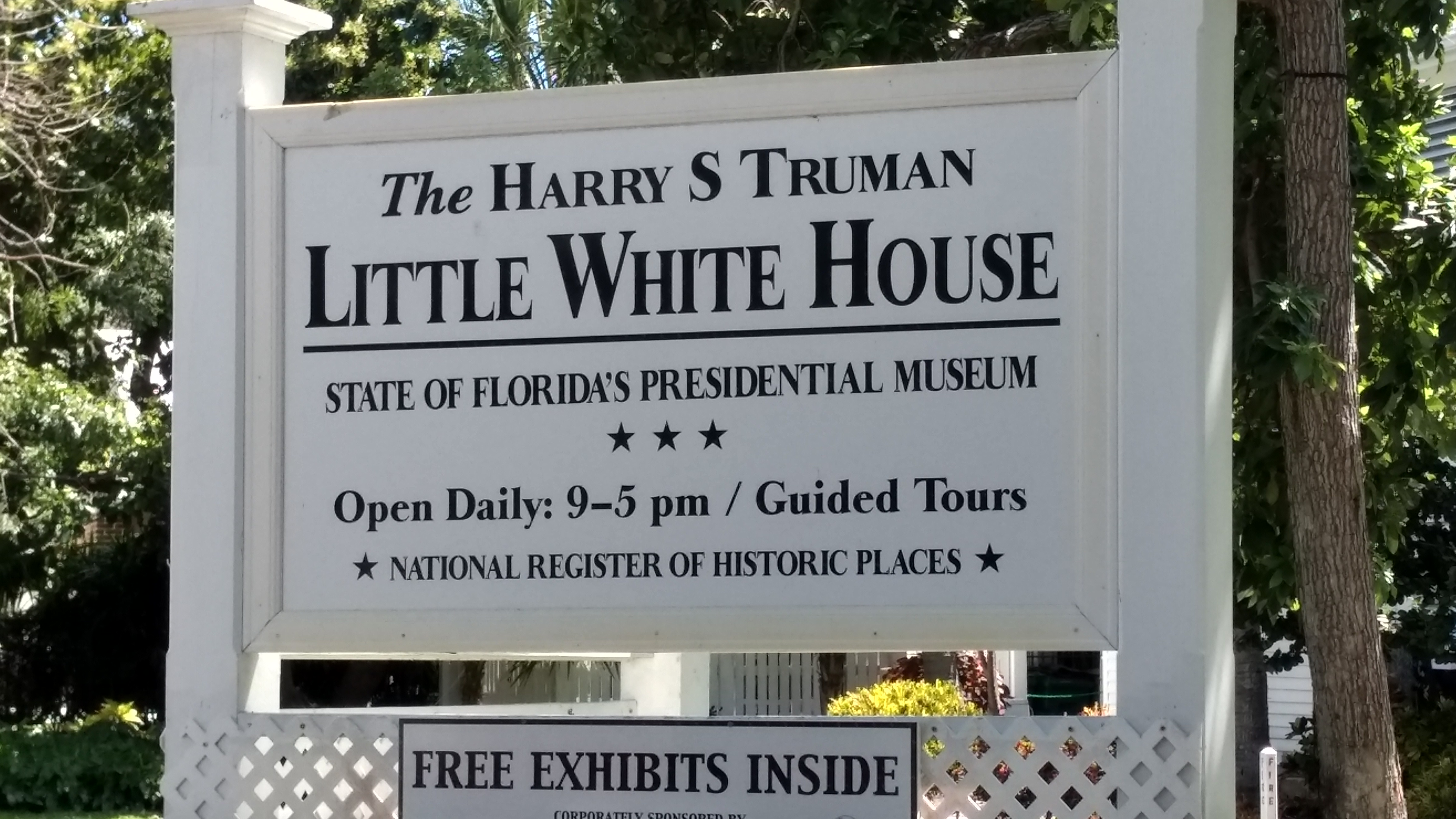 Harry S. Truman's Little White House (located on Front Street)