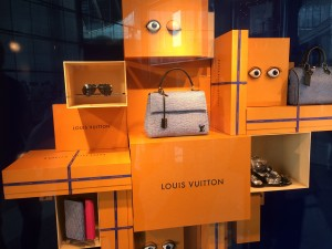 Louis Vuitton window at the Galleria Mall