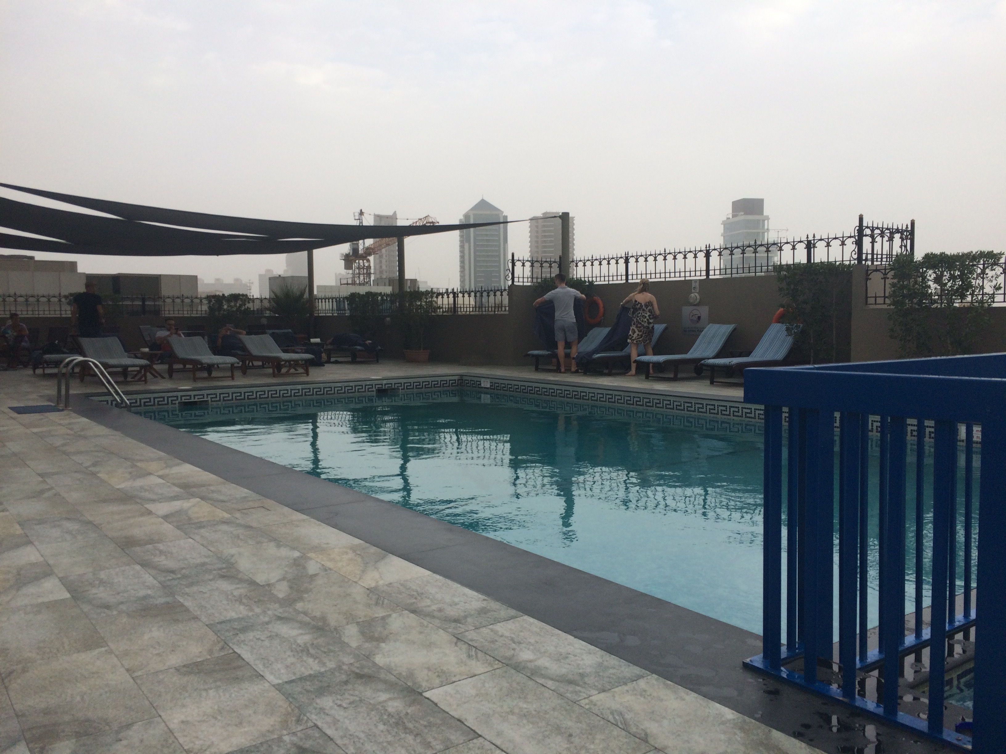 Rooftop pool at Savoy Central Hotel and Apartments
