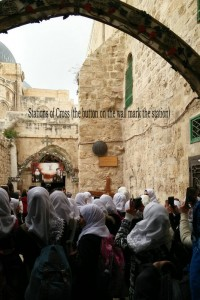 Stations of the Cross. The first nine stations are in the Muslim quarter.