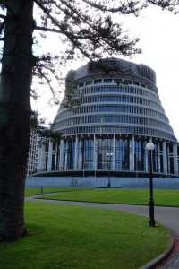 The Beehive: Wellington Executive Wing of Parliament