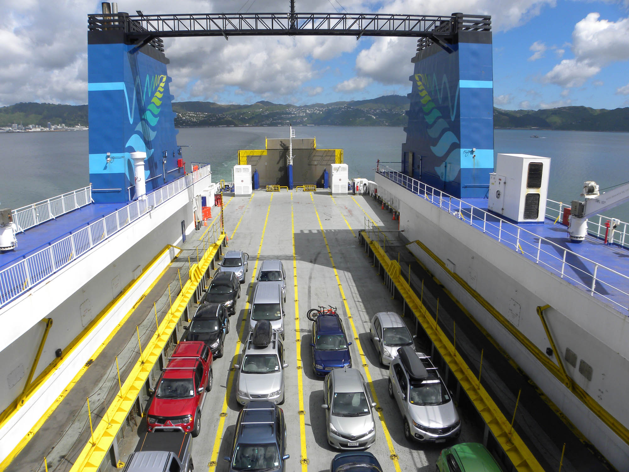 Cars on the ferry