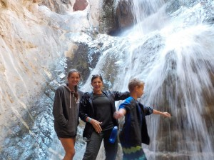 Our White Water Adventure included a climb to the waterfall.