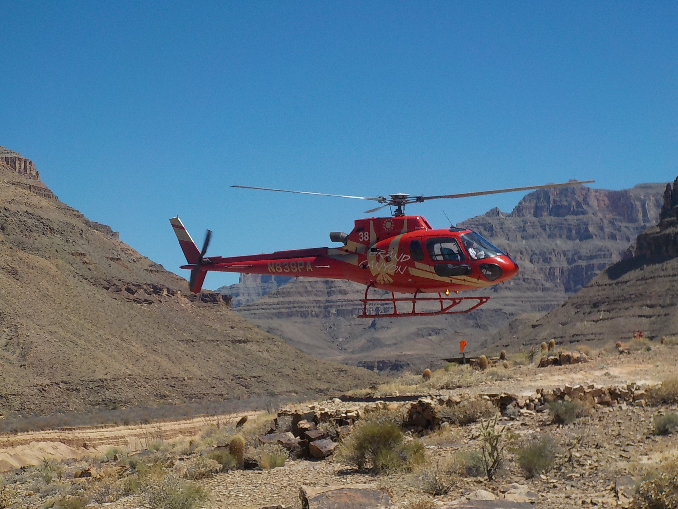 We rafted down the Colorado River for 36 miles, docked and rode a helicopter up, up and away to the airport.