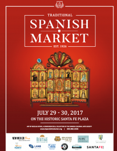 Official 2017 Spanish Market poster