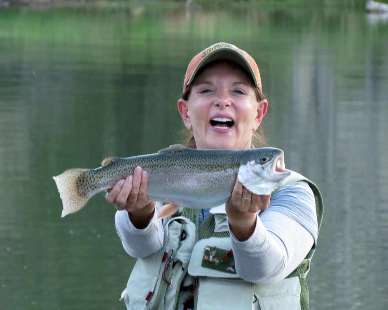 A beautiful Rainbow Trout from Lonnie's pond.