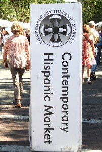 Contemporary Hispanic Market operates at the same time/place as the Traditional Market.