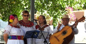 Playing and singing traditional New Mexican music.