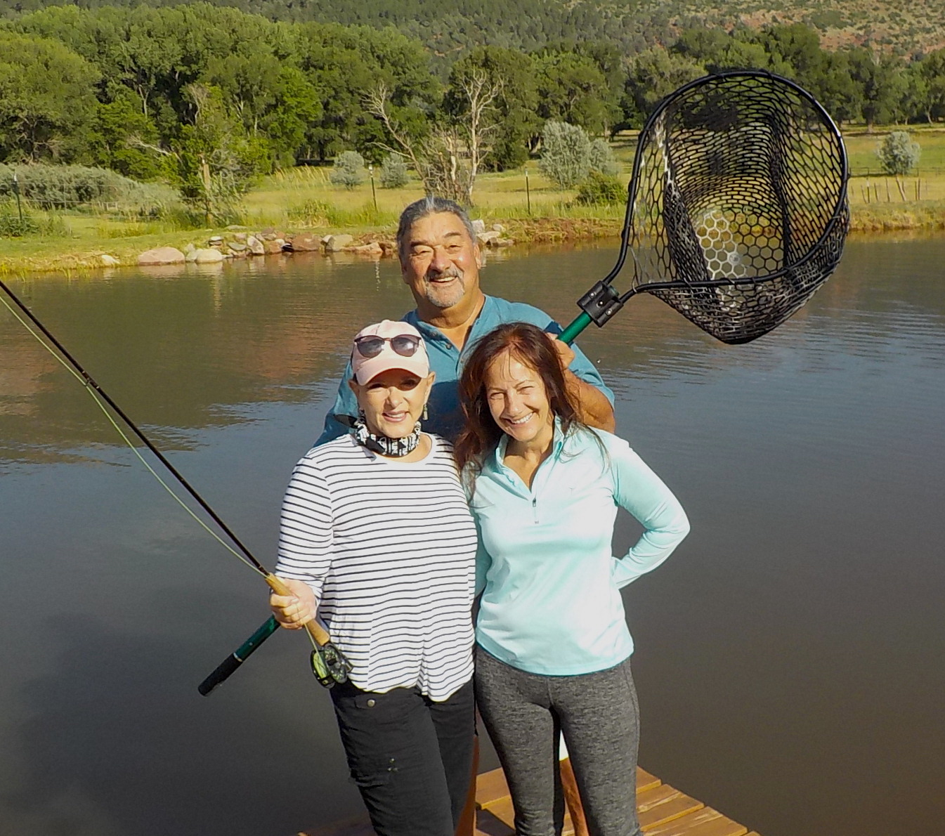 Joe and Susie Quintana, and Annie at the Q Ranch in Durango, CO.