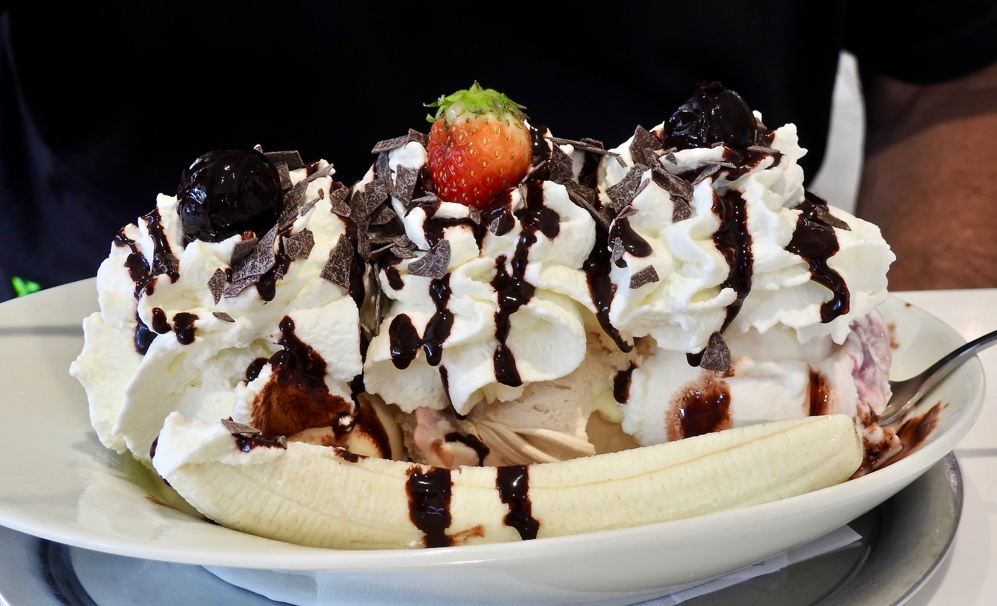 Banana Split at the Gelato place on Market Square