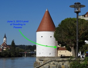 Water level of the 2013 flood