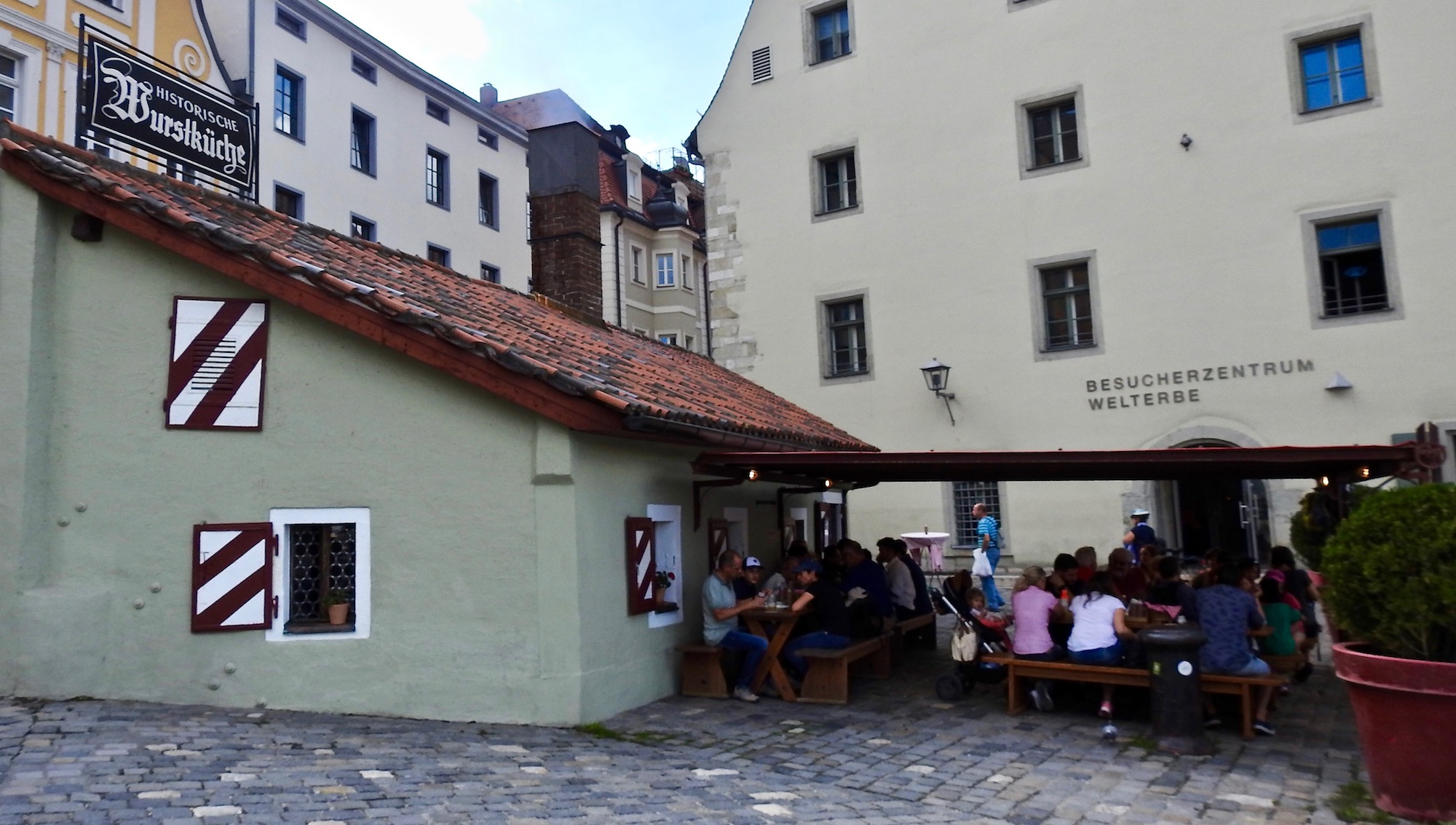 The Burstkuche, historical sausage cafe near the Danube.