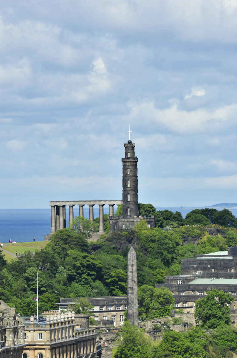 Nelson Monument in the background from Calton Hill.