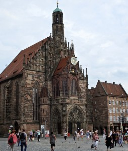 Our Lady's Church located at the edge of Market Square and built on top of the synagogue which was destroyed.