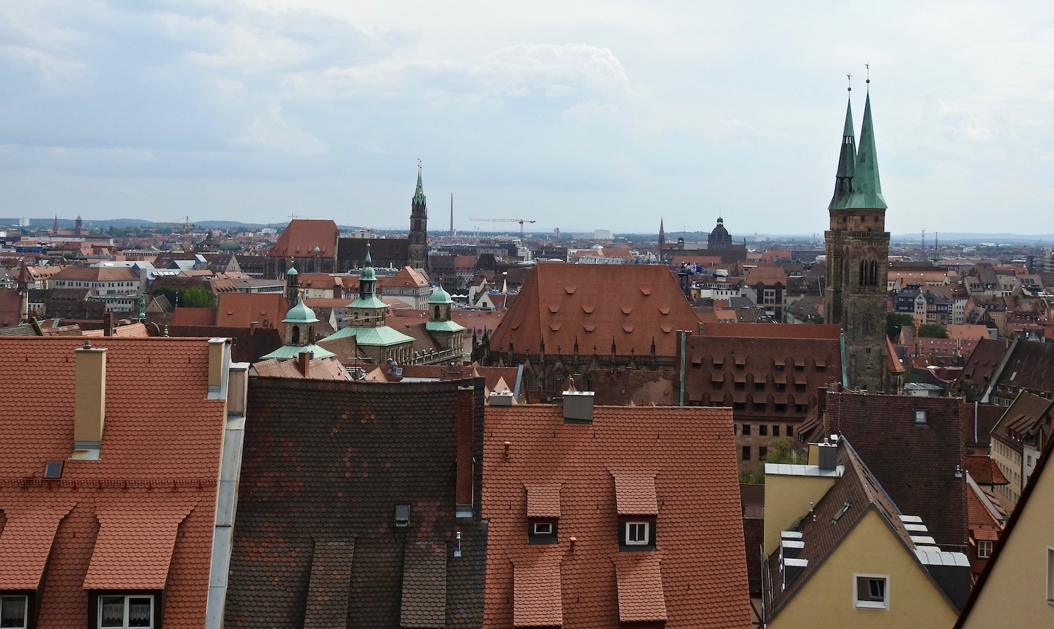 Overview of Nuremberg from the Kaiserburg Imperial Castle.