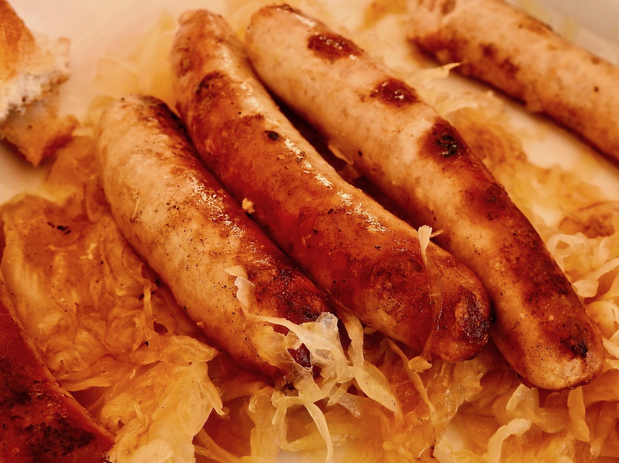 My plate of Sausage from Historische Wurstkuche.