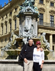 Annie and Bruce in Wurzburg.