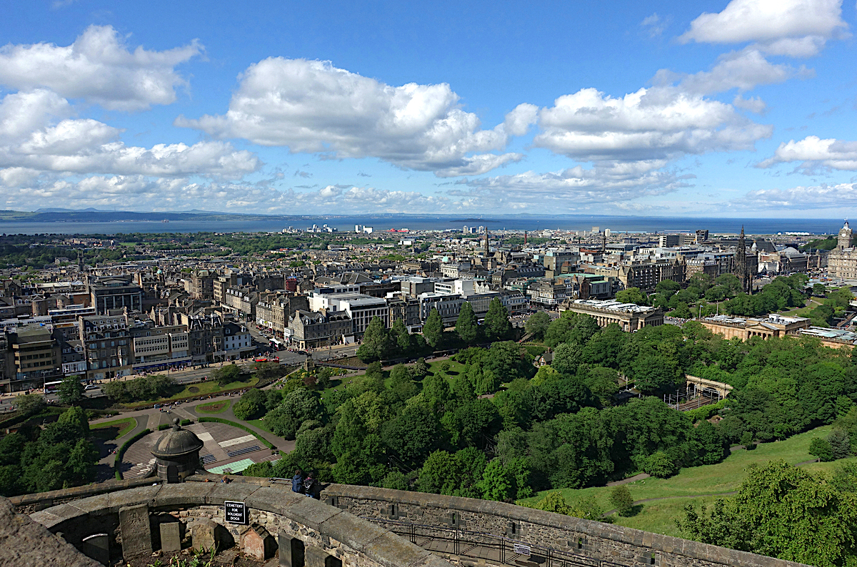 Overview of Edinburgh from Edinburgh Castle
