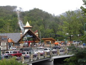 Traffic galore in Gatlinburg