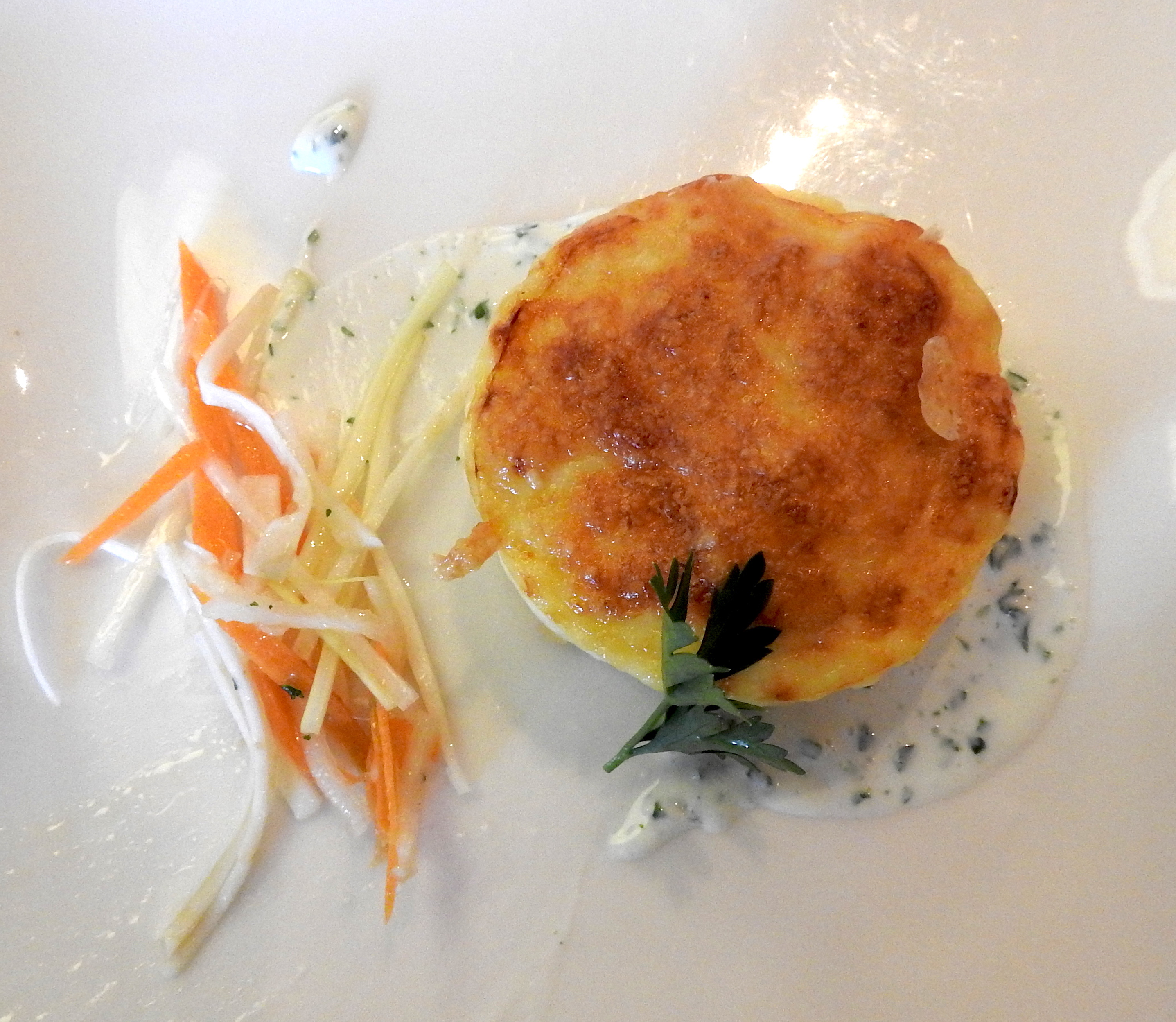 Cheese Souffle. Served as an appetizer one evening aboard the Viking Lef. It was so good, I ate two.