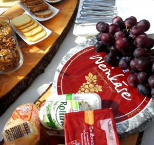 Weinkase, which means, Wine Cheese. The name is German, but the cheese is actually Italian.