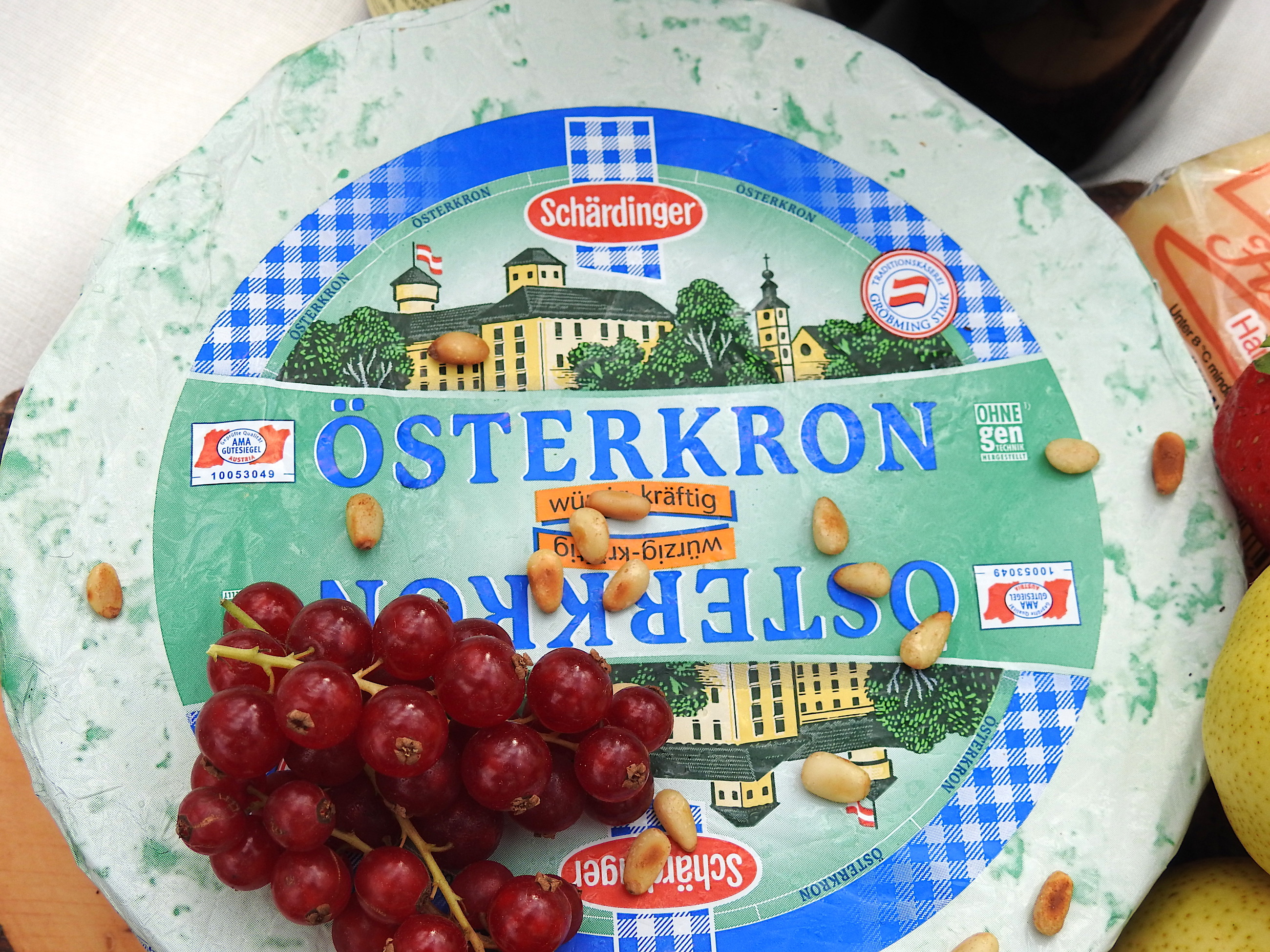Osterkron, a strong cheese from the mountainous region, Styria.
