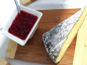 The black skin of Weinkase cheese is from the rubbing of red wine on the skin.