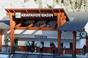 A-Basin ticket office. Adult tickets are $79.00