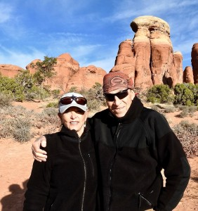 Bruce and Annie in Arches National Park.