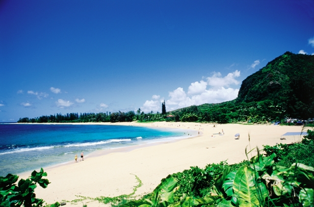 Makua Beach, one of Kauai's most popular snorkeling sites.