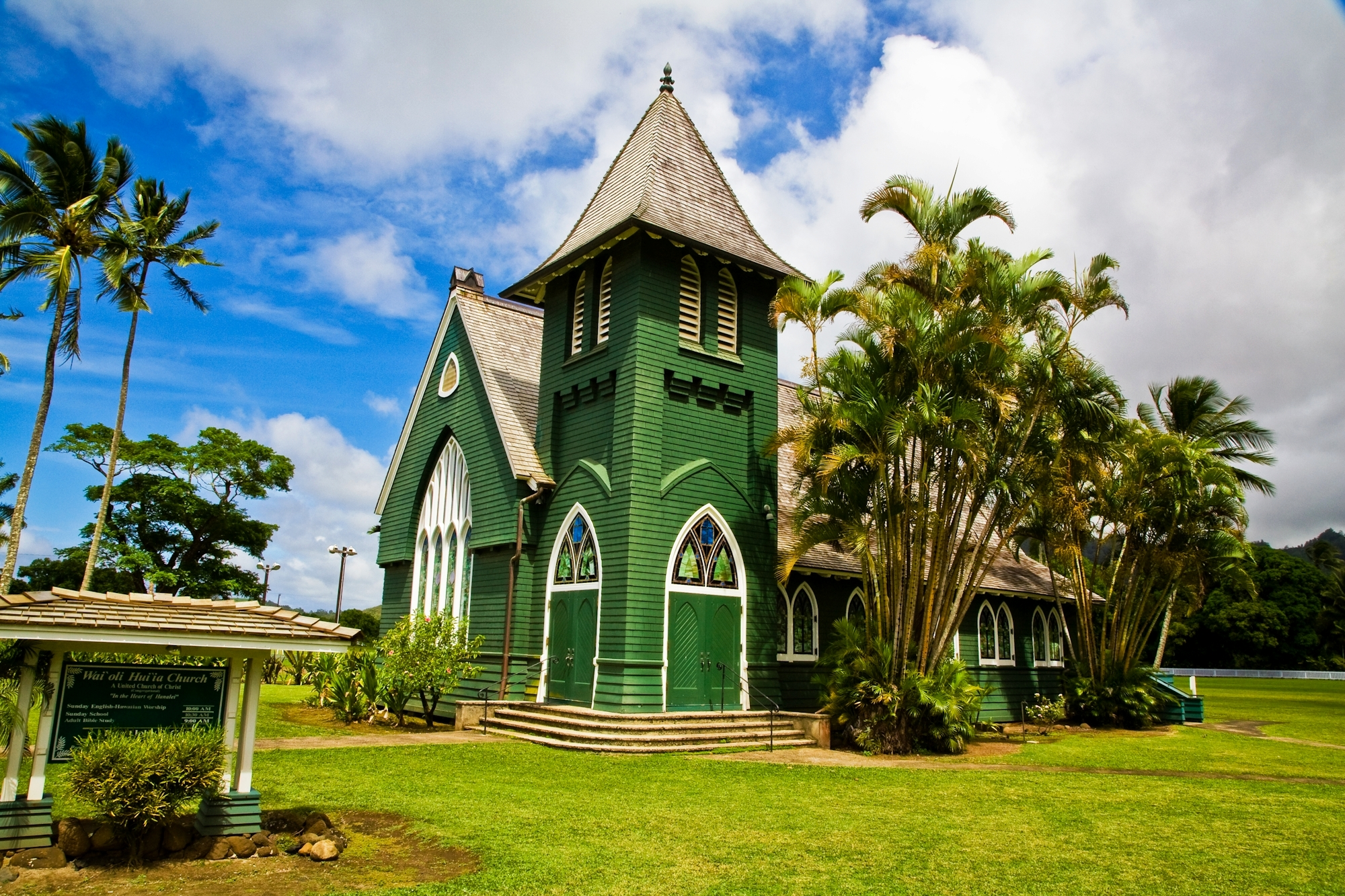 Waoli Huiia (aka Waioli Mission Church) the oldest church on the island of Kauai